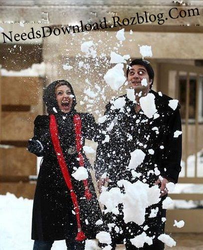 عکس لو رفته و جنجالی نیوشا ضیغمی در حال برف بازی - needsdownload.rozblog.com