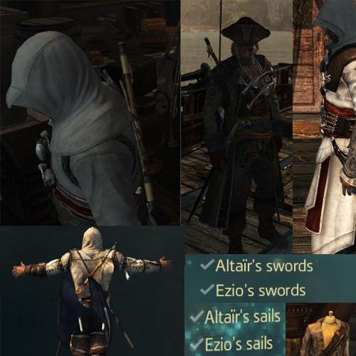 لباس الطائر و اتزیو و کانر برای (Asssassins creed IV Black flag (DLC