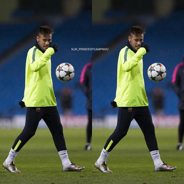گزارش تصویری : نیمار در تمرین بارسلونا 2015/2/23