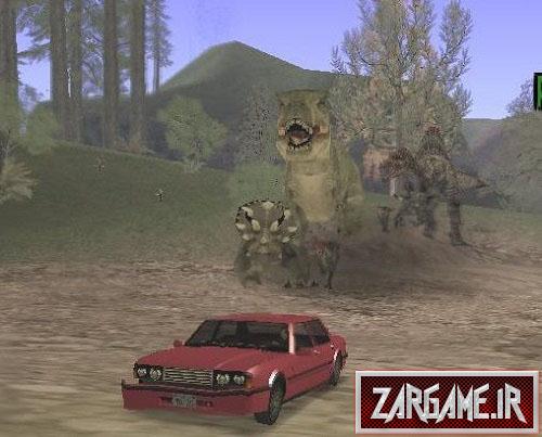 دانلود مود حمله دایناسورها برای GTA 5