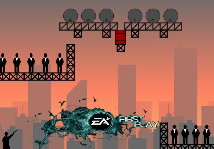 بازی انلاین اعتیاد اورهRicochet Kills 2