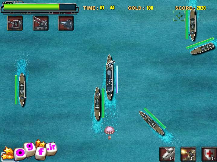 بازی انلاین نبرد در دریا