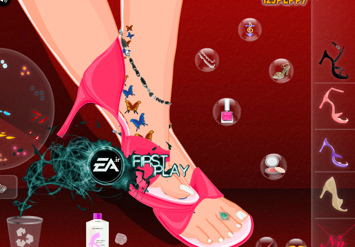 بازی دخترانه طراحی پا