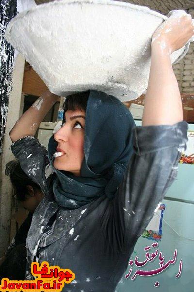 عکس دختر زیبا ایرانی اما کارگر
