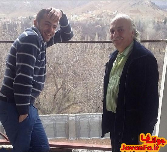 عکس جالب علی ضیاء و پدرش