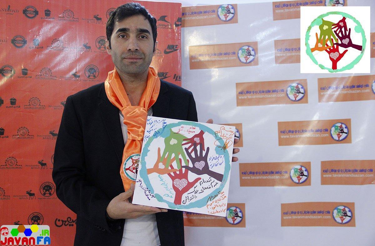 عکس های جدید هادی کاظمی در بازارچه خیریه