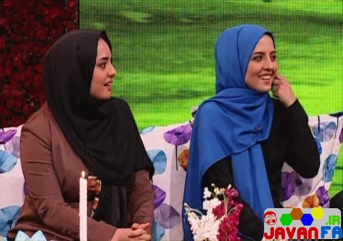 عکس های نرگس محمدی و خواهرش سارا در برنامه سال تحویل شبکه دو