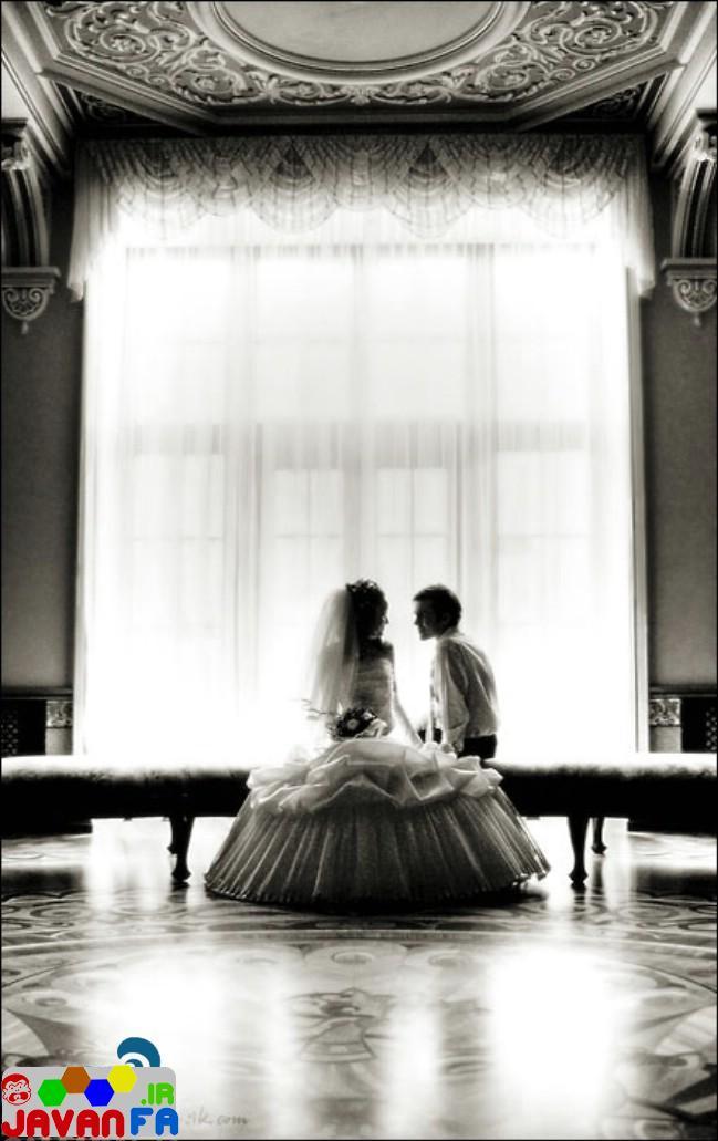 عکسهای عاشقانه عروس و داماد های عاشق