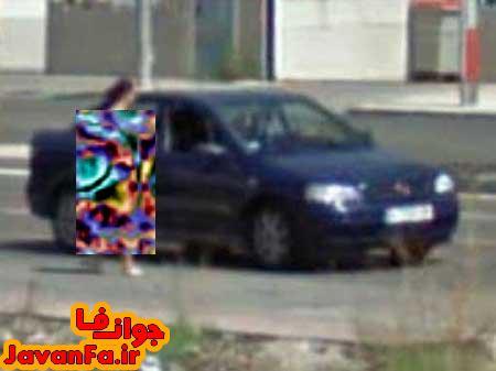 حرکت زشت و بی شرمانه دختر لخت در خیابان