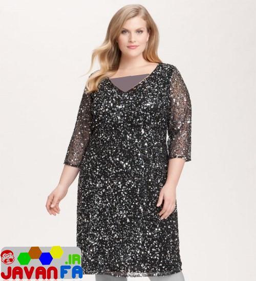 مدل لباس شب براي زنان چاق