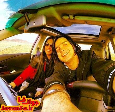 عکس دیدنی محسن یگانه و همسرش