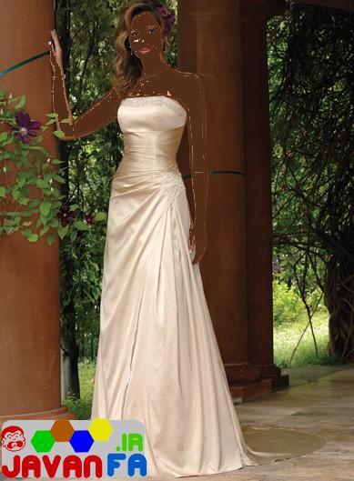 مدل لباس شب بلند دكلته جدید و شیک