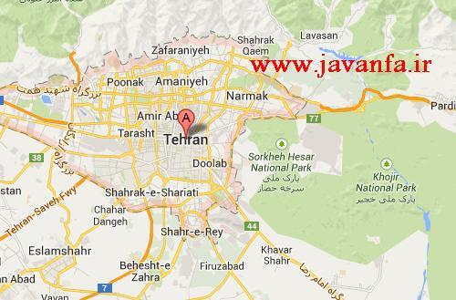 دانلود نقشه تهران ۹۲ با کیفیت عالی و فرمت JPG