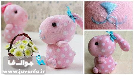 آموزش تصویری ساخت خرگوش با جوراب