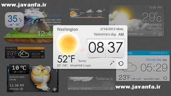دانلود برنامه پیش بینی وضع آب و هوا برای اندروید GO Weather Forecast