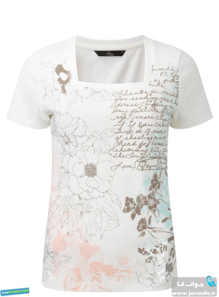 مدل تیشرت های شیک دخترانه تابستان 93 - 2014