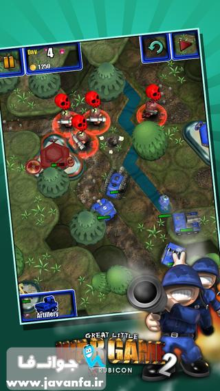 دانلود بازی اعتیادآور و جذاب Great Little War Game 2 برای آیفون، آیپاد و آیپد