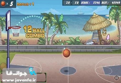 دانلود بازی انداختن و پرتاب توپ بسکتبال در سبد اندروید