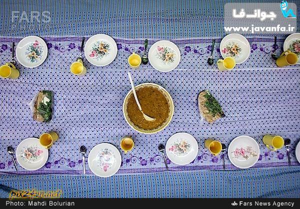 عکسهای سفره افطاری در مسجد امام سجاد (ع) ماه رمضان 93