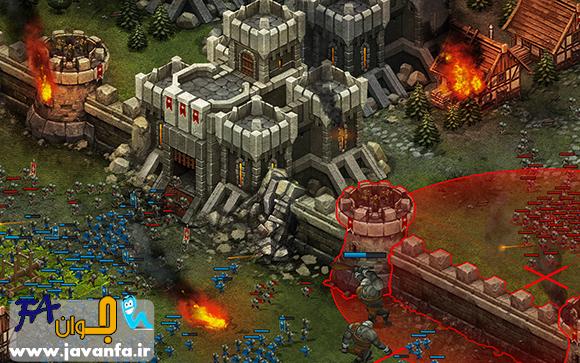 دانلود بازی آنلاین استراتژیکی اندروید Throne Rush