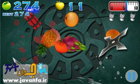 دانلود بازی به سبک فروت نینجا برای ویندوز فون AE Fruit Slash