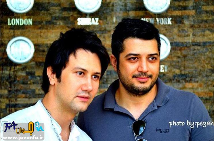 عکس های شاهرخ استخری و پندار اکبری در پشت صحنه برنامه خوشا شیراز