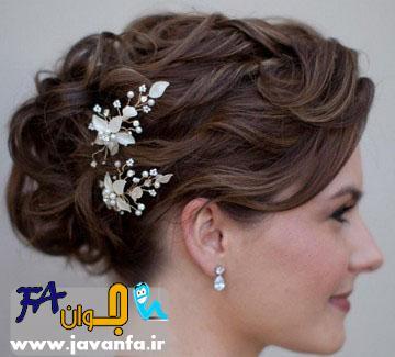 مدل آرایش و درست کردن مو عروس 93-2014