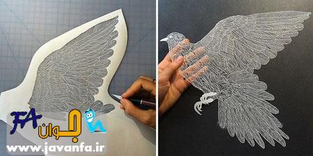 عکس مجسمه های کاغذی بسیار زیبا