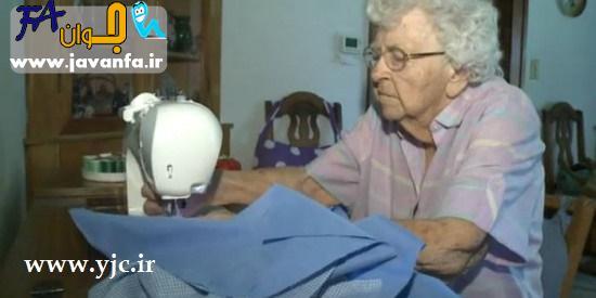 کار بی نظیر پیرزن 99 ساله برای خیریه - عکس