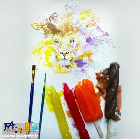 نقاشی با بستنی