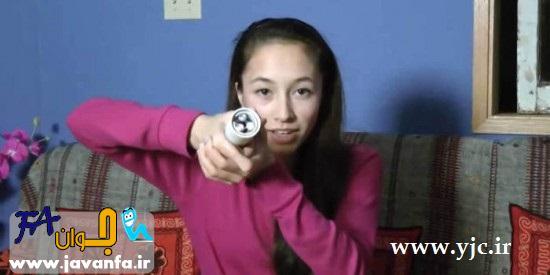 ابتکار جالب دختر 16 ساله در ساخت چراغ قوه -عکس