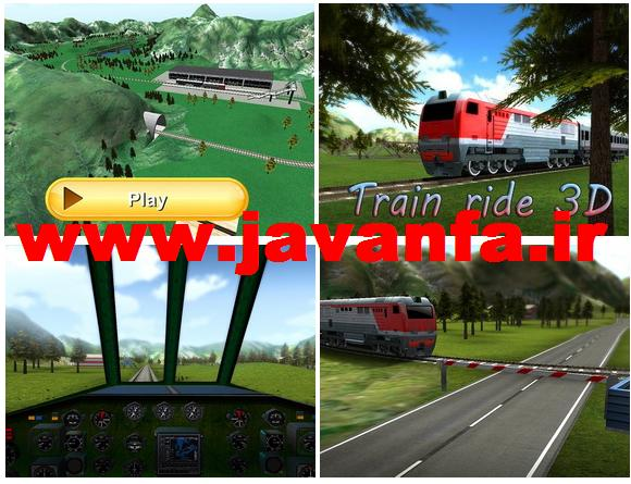 دانلود بازی اندروید رانندگی قطار لوکومتیو Train ride 3D
