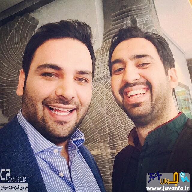 عکس های جدید احسان علیخانی و مهدی یراحی در پشت صحنه خوشا شیراز