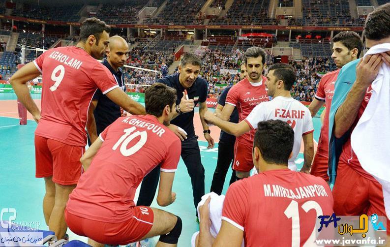 عکس های پیروزی والیبال ایران برابر آمریکا