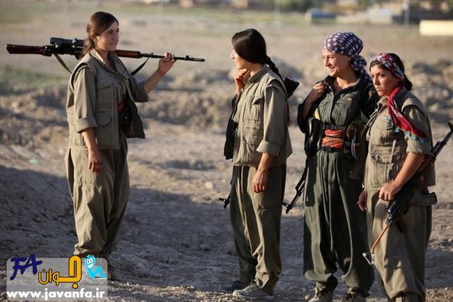 عکس -  زنان کرد اربیل آماده نبرد با داعش