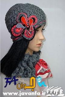 مدل بافتنی شال و کلاه زنانه