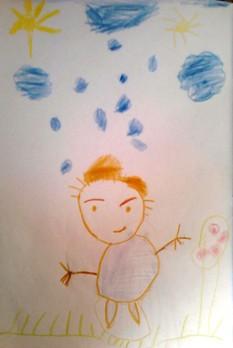 نقاشی داداش کوچکم طاها.