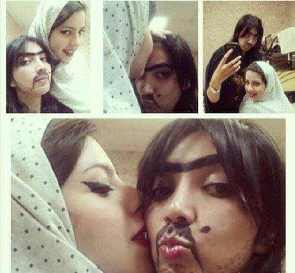 عکس دختر و پسرهای خل و چل ایرانی