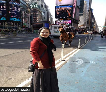 عکس آناهیتا نعمتی در خارج از کشور