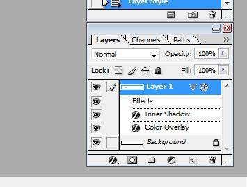 ایجاد آپشن بر روی layer