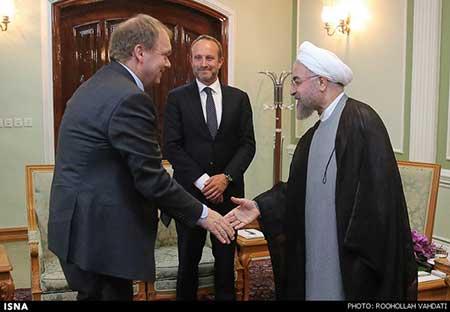 دیدار وزیر خارجه دانمارک با رییس جمهور