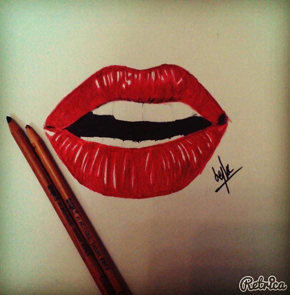 عکس نقاشی فانتزی با مداد رنگی