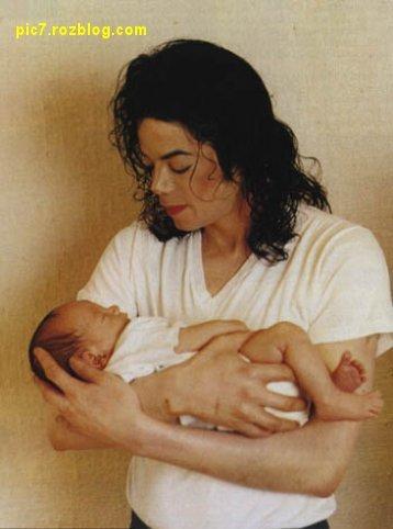 عکس بچه مایکل جکسون