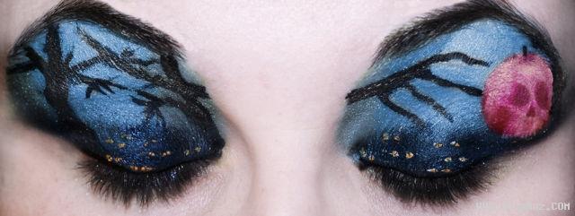 عکس نقاشی های قشنگ روی پلک چشم جدید