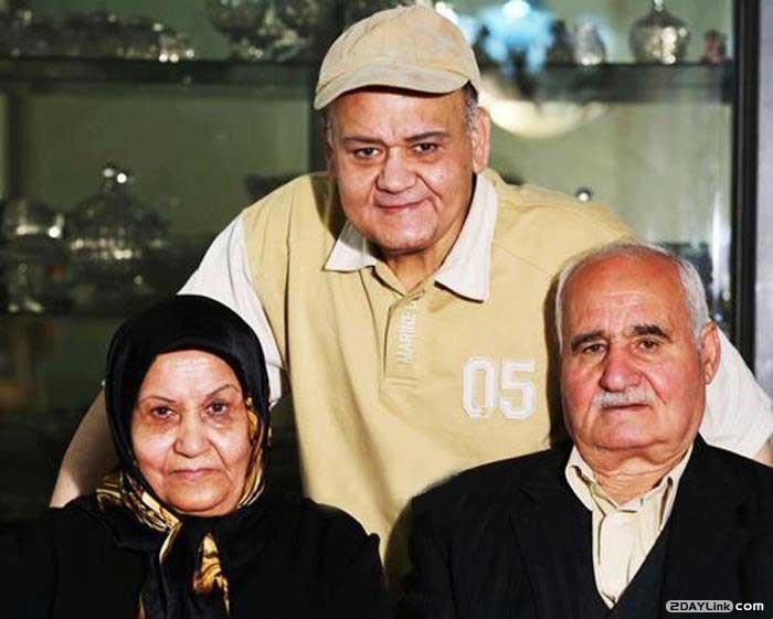 عکس جدید اکبر عبدی و  پدر و مادرش 92