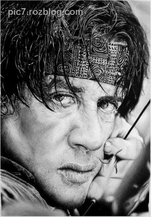 تصاویر قشنگ از نقاشی افراد مشهور جهان با مداد