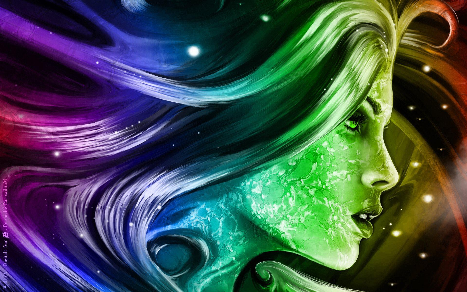 والپیپر نقاشی دیجیتال دختر / PicO