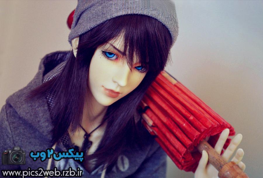 عکس دختر با چتر قرمز