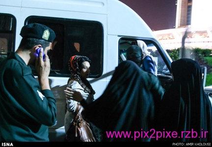 تصاویر جدید برخورد گشت ارشاد با بدحجابی