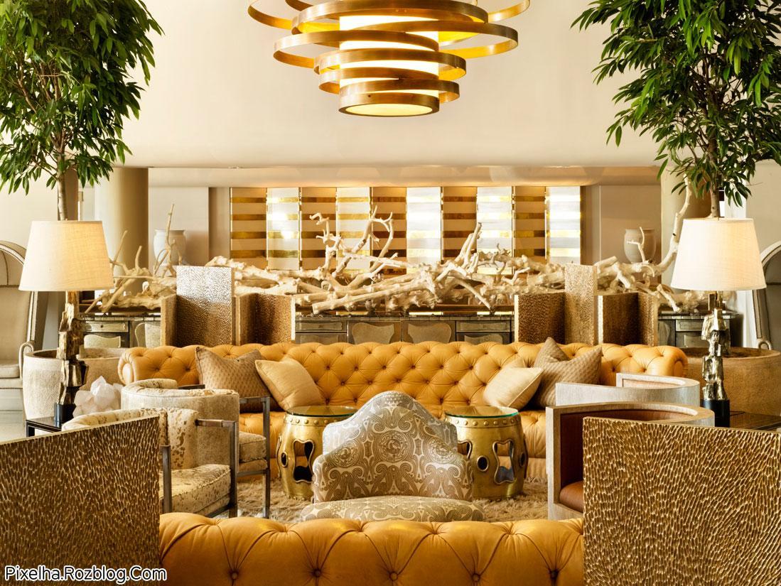 طراحی داخلی سالن هتل